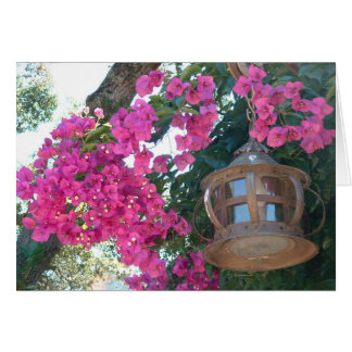 Flowers with Lamp Stationery Note Card