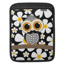 flowers with mustache owl sleeve for iPads