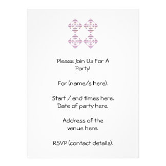 Flowers with Pastel Stripes. Pink, White. Custom Announcements