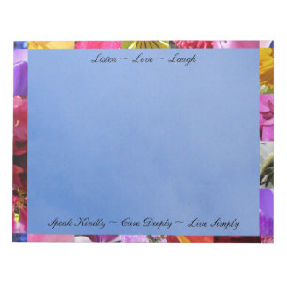 Flowers with Quotes Notepad