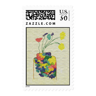 Flowers with Vase Postage