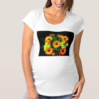 Flowers Women's Maternity T-Shirt, Maternity T-Shirt
