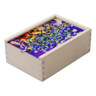 Flowers Wooden Keepsake Box