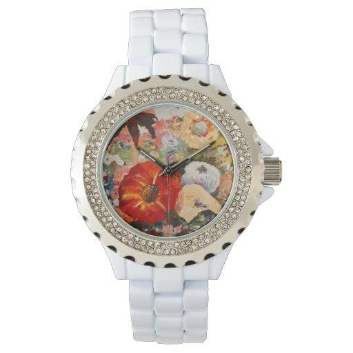 Flowers Wrist Watch