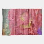 flowersa de madera del arte toallas de mano