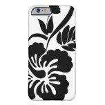 Flowerscase hawaiano blanco y negro