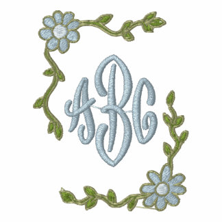 flowersframe, abc embroidered hooded sweatshirt