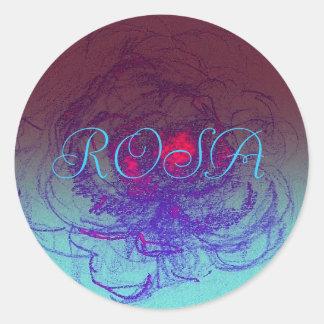 Flowershop de Rosa Pegatina Redonda