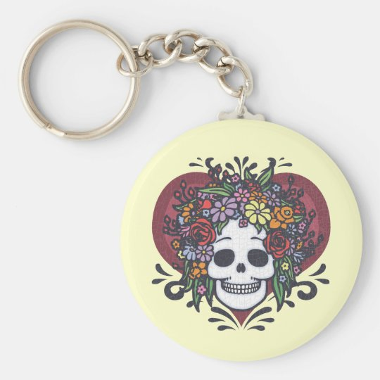 Flowerskull - Mom Keychain