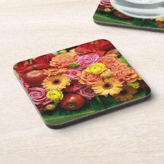 Flowery Apple background Drink Coaster