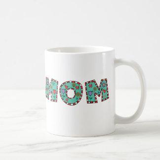 Flowery Blue Mom Coffee Mug