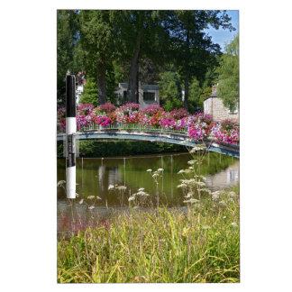 Flowery bridge at Bagnoles-de-l'Orne Dry Erase Board