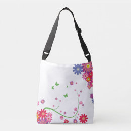Flowery  cross body casual bag. crossbody bag