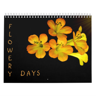Flowery Days Wall Calendar