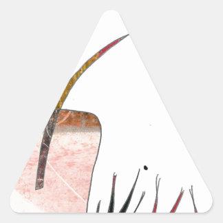 Flowery Delight Triangle Sticker