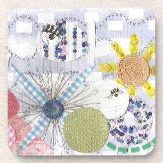 Flowery Fish World Plastic Coasters