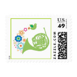Flowery French Horn Music Stamps Gift