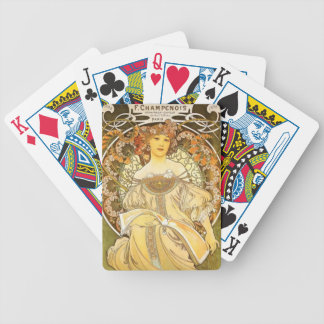 Flowery Girl Bicycle Playing Cards