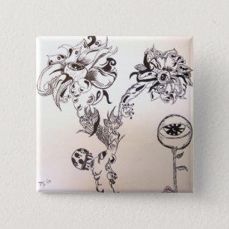 Flowery Grave Pinback Button