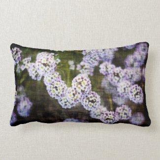 Flowery Grunge Pillow throwpillow