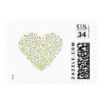 Flowery heart postage
