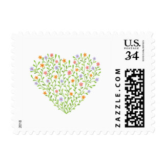 Flowery heart postage