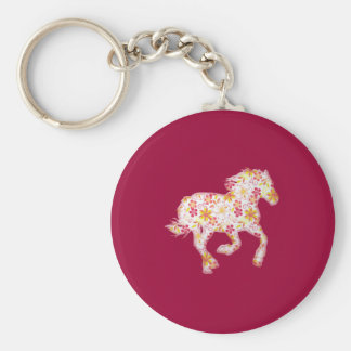 flowery horse key chains