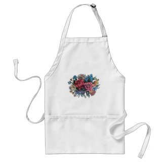 Flowery Image from vintage TV tray Adult Apron