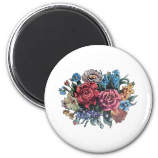 Flowery Image from vintage TV tray Magnet