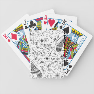 Flowery Indonesian Textile with Birds Bicycle Playing Cards