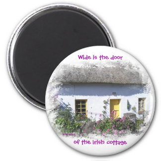 Flowery Irish Cottage Magnet