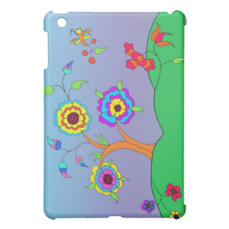 Flowery Landscape Girls Cover For The iPad Mini