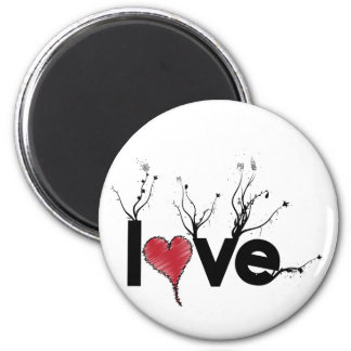 Flowery Love Nature 2 Inch Round Magnet
