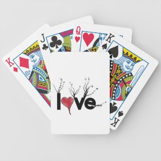 Flowery Love Nature Bicycle Playing Cards