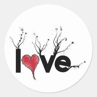 Flowery Love Nature Classic Round Sticker