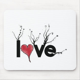 Flowery Love Nature Mouse Pad