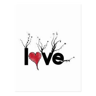 Flowery Love Nature Postcard