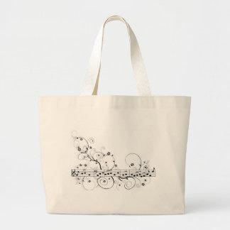 Flowery Music Tote Bag