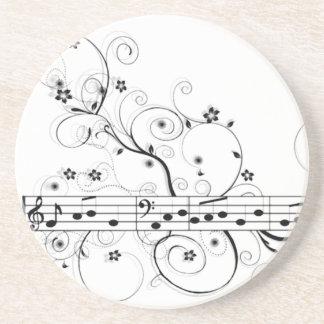 Flowery Music Coaster