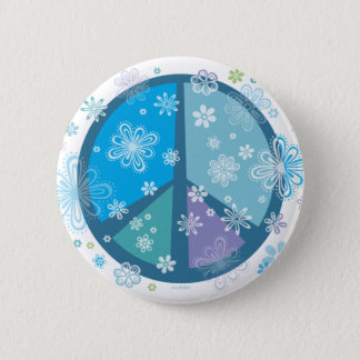 Flowery Peace sign Button