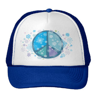 Flowery Peace sign Hat
