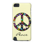Flowery Peace Symbol iPod Touch 5G Cases