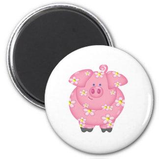 Flowery Piggie Fridge Magnets