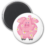 Flowery Piggie Magnet