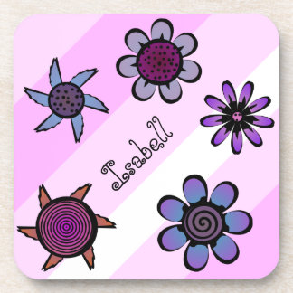 Flowery Pink Drink Coaster