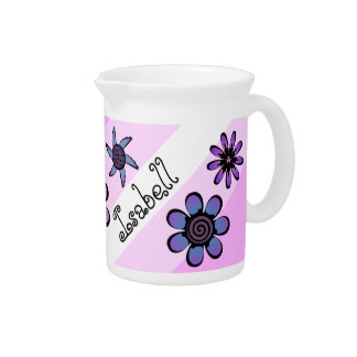Flowery Pink Drink Pitcher
