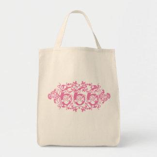 Flowery Pink Number 666 Tote Bag