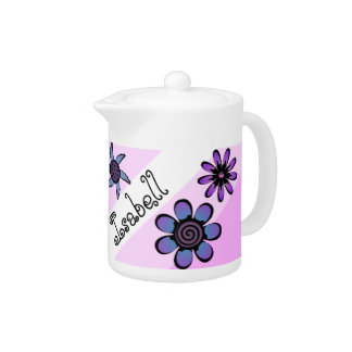 Flowery Pink Teapot