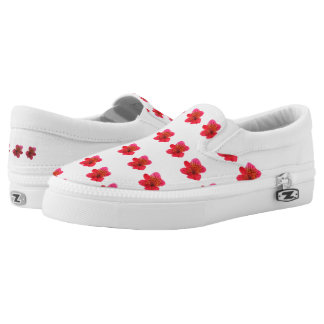 FLOWERY shoes! Slip-On Sneakers