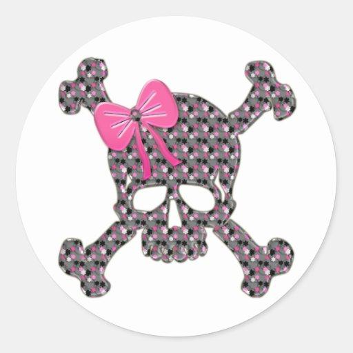 Flowery Skull Stickers